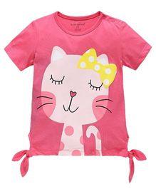 Cherubbaby Sweet Kitten Printed Tee - Pink
