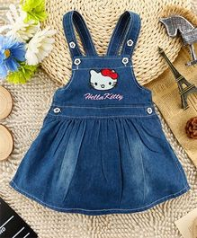 Cherubbaby Dungaree Style Flare Dress - Blue