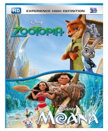 Moana & Zootopia 3D BD DVD - English