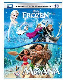 Moana & Frozen 3D BD - English