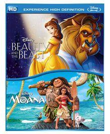 Moana & Beauty And The Beast Blue Ray DVD - English