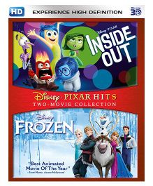 Inside Out & Frozen 3D Blue Ray DVD - English