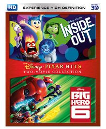 Inside Out & Big Hero 6 3D Blue Ray DVD - English