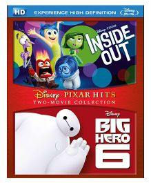 Inside Out & Big Hero 6 Blue Ray DVD - English