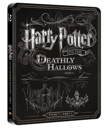 Harry Potter And The Deathly Hallows Part 2 Steelbook Blue Ray Disk - English