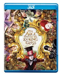 Disney Alice Through the Looking Glass 3D Blue Ray Disk - English
