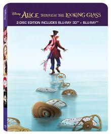 Disney Alice In Wonderland & Alice Through The Looking Blu Ray 3D- English