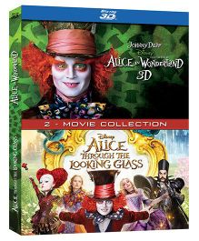 Disney Alice In Wonderland & Alice Through The Looking Glass Blu Ray 3D - English