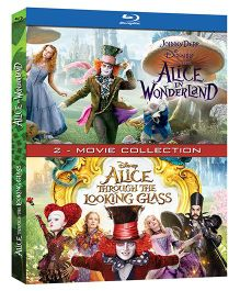 Disney Alice In Wonderland & Alice Through The Looking Glass Blu_Ray Disk - English
