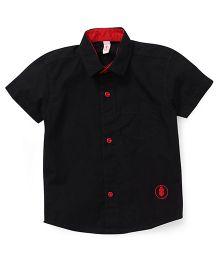 Spark Half Sleeves Shirt - Black