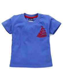 Play by Little Kangaroos Half Sleeves T-Shirt - Blue Red