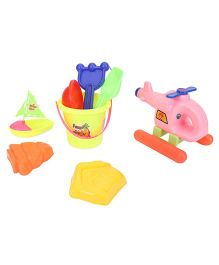 Negi Helicopter Beach Set - Pink And Multi Color