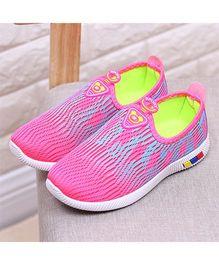 Wonderland Mesh Teddy Design Shoes - Pink