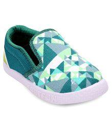 Footfun Casual Shoes - Green White