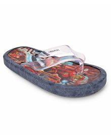 Iron Man Flip Flops - Red Grey
