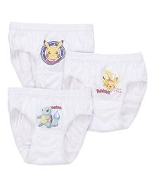 Bodycare Briefs Pokemon Print Pack Of 3 - White