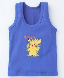 Bodycare Sleeveless Vest Pikachu Pokemon Print - Blue