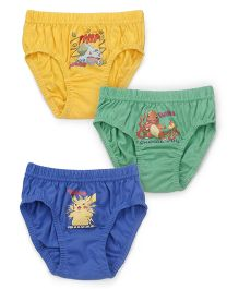Bodycare Pokemon And Friends Printed Briefs Set Of 3 - Yellow Green Blue (Prints & Color May Vary)