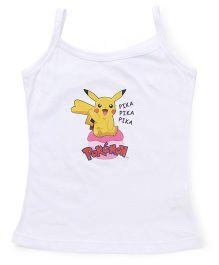 Bodycare Sleeveless Slip Pokemon Print - White