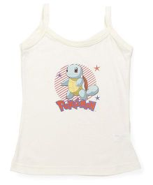Bodycare Sleeveless Slip Squirtel Pokemon Print - Off White