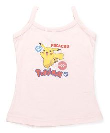 Bodycare Sleeveless Slip Pikachu Pokemon Print - Light Peach