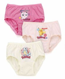 Bodycare Panties Pokemon Print Pack Of 3 - Blue Peach Light Yellow