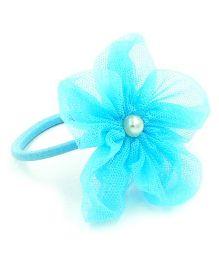 Magic Needles Fancy Rubberband With Net Flower - Light Blue