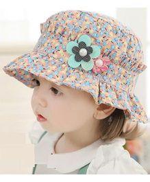 Princess Cart Summer Floral Cap - Blue
