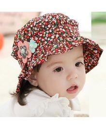 Princess Cart Summer Floral Cap - Red