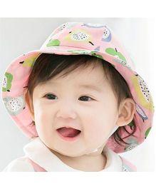 Princess Cart Fruit Print Hat - Pink