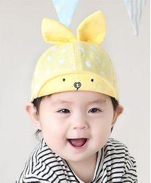 Princess cart Rabbit Print Cap - Yellow
