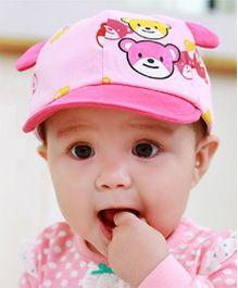 Princess Cart Teddy Brim Cap - Pink