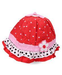 Princess Cart Cotton Summer Cap - Red