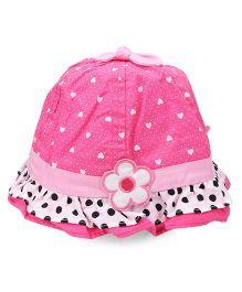 Princess Cart Cotton Summer Cap - Hot Pink