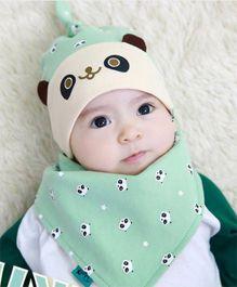 Princess Cart Bandana Triangle Hat Bib Set - Green