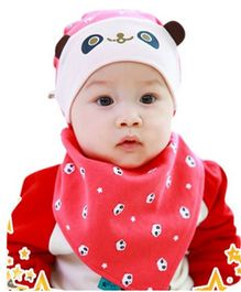 Princess Cart Bandana Triangle Hat Bib Set - Red