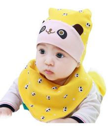 Princess Cart Bandana Triangle Hat Bib Set - Yellow