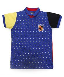 Olio Kids Half Sleeves Tee Dots Print - Blue