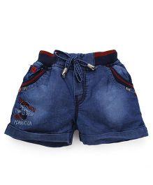 Olio Kids Shorts With Drawstring - Dark Blue