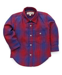 The KidShop Double Shaded Checkered Shirt - Red & Blue