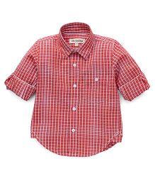The KidShop Gingham Checkered Shirt - Red & White