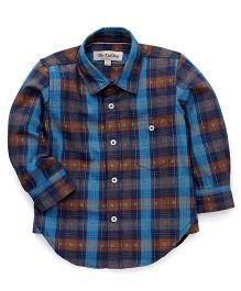 The KidShop Checkered Shirt - Blue & Brown