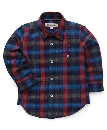 The KidShop Checkered Shirt - Red & Brown