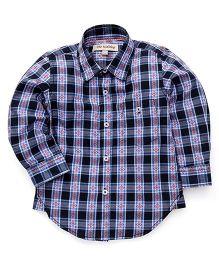 The KidShop Checkered Shirt - Blue & Black