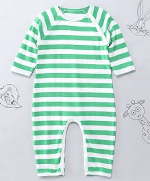 Berrytree Organic Cotton Stripe Romper - Bright Green