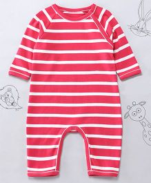 Berrytree Organic Cotton Stripe Romper - Pink