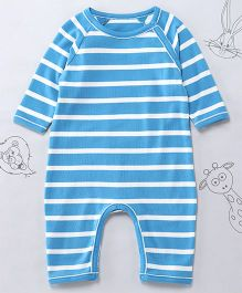 Berrytree Organic Cotton Stripe Romper - Blue