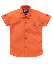 Jash Kids Half Sleeves Solid Shirt - Orange
