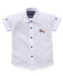 Jash Kids Half Sleeves Solid Shirt - White
