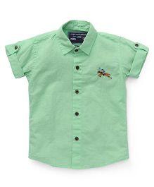 Jash Kids Half Sleeves Solid Shirt - Green